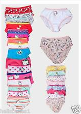 """GIRL'S 3PRS OF """"RANDOM PICK"""" HELLO KITTY BRIEFS/KNICKERS OR BOXER SHORTS 1-14YRS"""