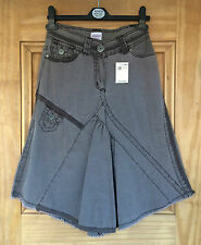 TAMMY NEW GIRLS LADIES BROWN BRODERIE TRIM CUT ABOUT SKIRT AGE 8 - 16 YEARS BNWT