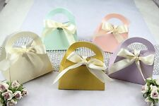 "50ea Pastel Purse Handbag Favor Gift Box 3.25"",Wedding Shower Jewelry Candy"
