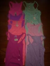 VICTORIAS SECRET PINK RIBBED TANKTOP TEESHIRT DOG COLOR SIZE CHOICE NWT