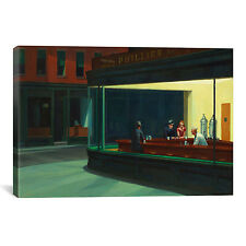 iCanvasArt 'Nighthawks, 1942' by Edward Hopper Painting Print on Canvas