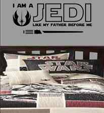 I am a Jedi like my father before me lightsaber Luke Skywalker vinyl decal yoda