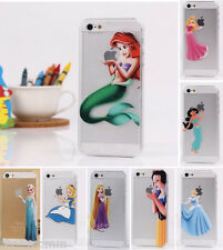 Thin Matte Cartoon Hard Case for iPhone 4 5 5C 6 6Plus Snow White Ariel Mermaid