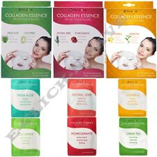 2,4,6 Counts Collagen Essence Facial Tissue Masks Assorted Nu-Pore Skin Care