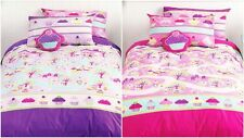 Cupcakes Enchanted Forest Bedding Quilt Cover Set Girls Kids Sweets Candy New