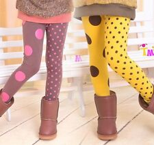 Brand New Kids Toddler Clothing Girls Sweet Dots Leggings Tights Pants Sz2-7Y