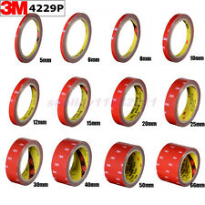 Double Sided Acrylic Foam Tape 3M #4229 Automotive For Auto Car 3m x 5mm ~ 50mm