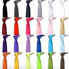 Mens Womens Unisex Slim Skinny Tie Work Party Wedding Trendy Smart Cool Colours