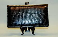 Mohawk Extremely Fine Snake Skin Embossed Leather Checkbook covers in black