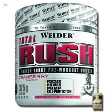Weider Total Rush Fusion Force Pre-workout Powder 375g With Arginine Krea-genic