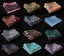 FC Paisley Floral Men Silk Satin Pocket Square Hanky Wedding Party Handkerchief