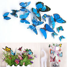 12pcs 3D Butterfly Sticker Art Wall Mural Stickers Door Decals Home Decor