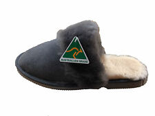 Australian Made Sheepskin Lady Scuffs Grey Colour