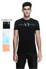 New Armani Exchange Mens Muscle Slim Fit  Classic Logo Tee Shirt d6x608