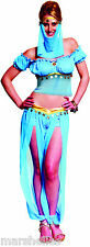 LADIES BELLY DANCER GENIE PRINCESS JASMINE BOLLYWOOD FANCY DRESS COSTUME 8 TO 14