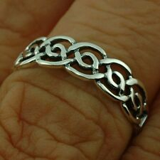 Celtic Knot Silver Band Ring, Mix US Sizes, Plain Silver, Irish Jewelry, RP664