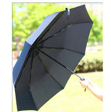 Men's AUTO Umbrella Compact/Folding Gift Big Size business Fashion Parasol Black