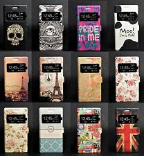 Flip Leather Wallet Pouch Case Cover Stand For Sony Xperia M2 D2303 D2305 D2306