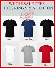 100 T-SHIRTS BLANK BULK LOT Colors or 112 White Plain S-XL Wholesale