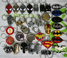 The Avengers Charms Keychain & Keys Ring Superman HULK Batman Iron Man Captain