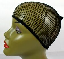 LOT OF 2, 6, 12,36--BLACK HAIR NET WEAVING CAP LINER WIG CAP ONE SIZE --HN1000BK