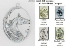 Horse fobs, various designs & keychain options