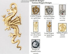 Dragon fobs, various designs & keychain options