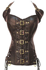 Coffee Buckle-up Steampunk waist training Corset LC5342 sexy women plus bustier