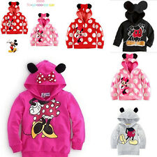 Kids child Clothing Sweater Hoody Minnie Micky Mouse Pattern Disney Polka Dots