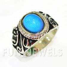 Elegant Vintage Oval Multi Color Change Mood Ring Free Color Chart Retro