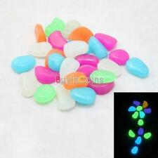 100pcs New Glow in the Dark Pebbles Stones Garden Walkway Fish Tank Decoration