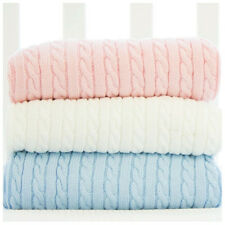 Bubba Blue 100% Cotton Cable Knit Blanket (3 Colors Available)