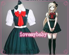 NEW Super Dangan Ronpa 2 Sonia·Nevermind Cosplay Costume Dark Blue Dress Skirt