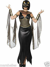 LADIES HALLOWEEN EGYPTIAN CAT GODDESS BASTET SEXY FANCY DRESS COSTUME HALLOWEEN