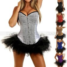 New Party Burlesque Corset & tutu /skirt Fancy Dress Halloween Cosplay Costume