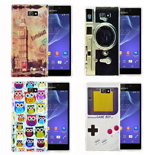 Silicone Gel Rubber Grip Case Cover for Mobile Phone Sony Xperia M2 + Film