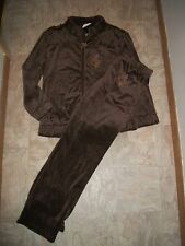 NEW WOMENS BABY PHAT VELOUR TRACKSUIT HOODIE JACKET PANTS SET OUTFIT PLUS 1X 2X