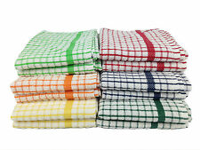 100% Cotton Terry Check Tea Towel, Soft & Absorbent, sold seperately