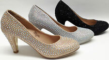 NEW Chase & Chloe WEDDING PROM PAGEANT PARTY Rhinestone Bling Round Pump Shoes