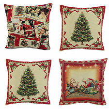 "New Tapestry Christmas Cushion Covers, 17"" x 17"", 3 Designs"