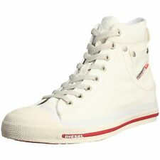Diesel Exposure Hi Off White Red Mens Canvas New Trainers Shoes Boots