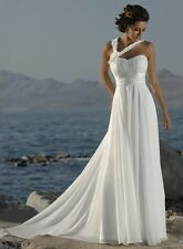 chiffon white/ivory new wedding dress in stock size 6 8 10 12 14 16