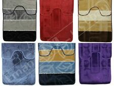 New 2 Pieces Beautiful and Durable Non-Slip Non-skid Rubber Backing Bath Mat Set
