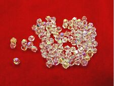 10 x Genuine SWAROVSKI Crystal ROUND BEADS 4mm / 5mm / 8mm ~Clear AB or Clear~