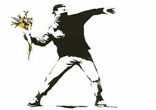 BANKSY Flower Thrower One Piece Poster