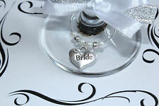 Wedding Wine Glass Charms - Top Table - White -Huge Choice of Charms and Colours