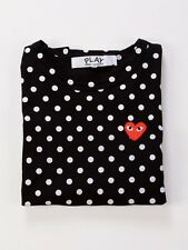 COMME DES GARCONS PLAY BLACK POLKA DOT LONG SLEEVES T SHIRT