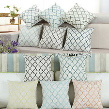 "17"" X 17"" High Class Diamonds Trellis Embroidered Cushion Covers Pillows Shell"