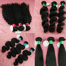 100g virgin peruvian remy human hair weft extensions original hair 1 bundle