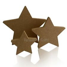 Free Standing MDF Star Shape Christmas Decorations/Crafts 100mm 150mm 200mm